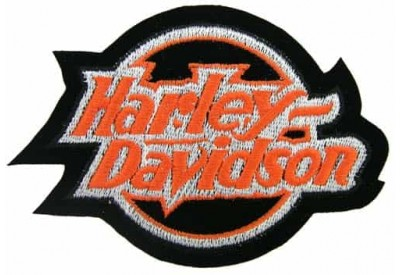 HARLEY DAVIDSON BIKER EMBROIDERED PATCH #08