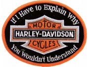 HARLEY DAVIDSON BIKER EMBROIDERED PATCH #36a