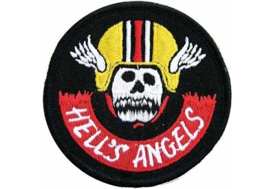 HELL'S ANGELS BIKER IRON ON EMBROIDERED PATCH #03