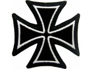 IRON CROSS PUNK & ROCK EMBROIDERED PATCH