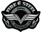 KAWASAKI BIKER MOTORCYCLE EMBROIDERED PATCH #04