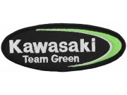KAWASAKI BIKER IRON ON EMBROIDERED PATCH #33