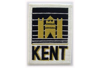 KENT TOBACCO IRON ON EMBROIDERED PATCH
