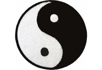 YIN YANG TAIJI IRON ON EMBROIDERED PATCH (A)