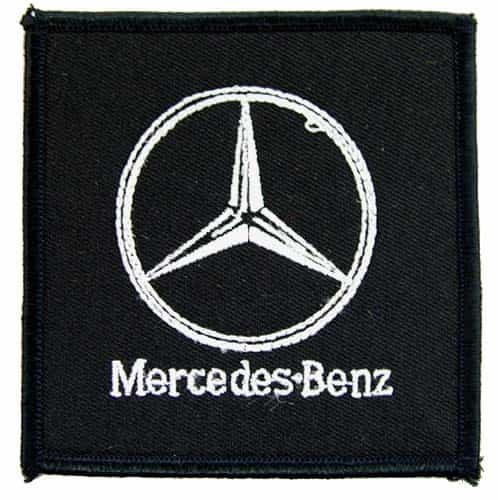 Mercedes benz auto racing iron on embroidered patch 02 for Mercedes benz iron
