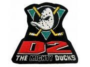 NHL HOCKEY MIGHTY DUCKS IRON ON EMBROIDERED PATCH #02