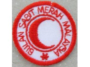 MALAYSIA RED CROSS AMBULANCE IRON ON EMBROIDERED PATCH #01