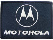 MOTOROLA IRON ON EMBROIDERED PATCH #01