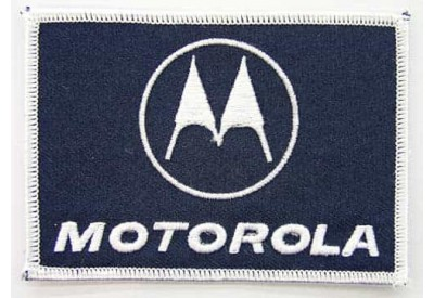 MOTOROLA IRON ON EMBROIDERED PATCH #05