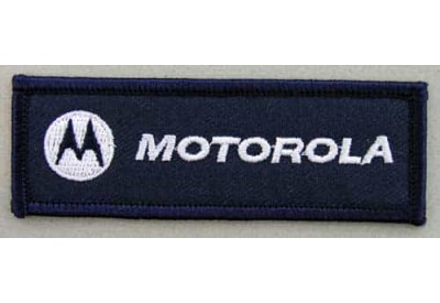 MOTOROLA IRON ON EMBROIDERED PATCH #06