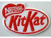 NESTLE KITKAT CHOCOLATE LOGO EMBROIDERED PATCH