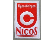 NICOS RACING SPORT IRON ON EMBROIDERED PATCH