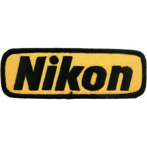 nikon camera logo embroidered patch 02
