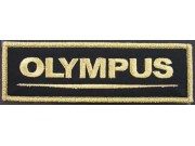 OLYMPUS CAMERA LOGO IRON ON EMBROIDERED PATCH #02