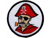 PIRATE PUNK & ROCK IRON ON EMBROIDERED PATCH #03