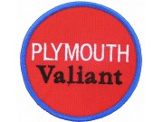 PLYMOUTH VALIANT RACING SPORT IRON ON EMBROIDERED PATCH