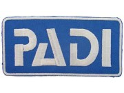 PADI SCUBA LOGO FLAP EMBROIDERED PATCH BLUE