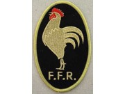 FRANCE RUGBY IRON ON EMBROIDERED PATCH #01