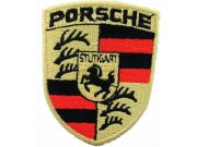 PORSCHE AUTOMOBILE IRON ON EMBROIDERED PATCH #01