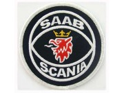 SAAB AUTOMOBILE IRON ON EMBROIDERED PATCH #01