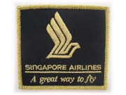 SINGAPORE AIRLINE IRON ON EMBROIDERED PATCH #01