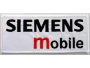 SIEMENS MOBILE LOGO IRON ON EMBROIDERED PATCH #01