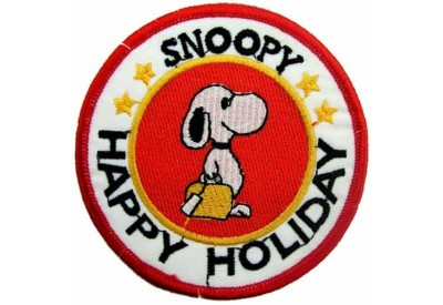 SNOOPY CARTOON COMIC IRON ON EMBROIDERED PATCH #01