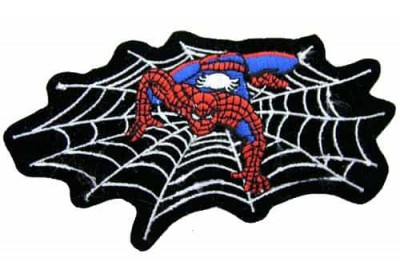 SPIDERMAN CARTOON COMIC IRON ON EMBROIDERED PATCH #01