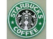 STARBUCK LOGO IRON ON EMBROIDERED PATCH #01