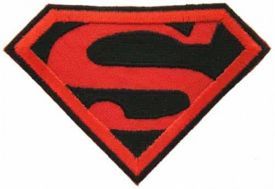 SUPERMAN CARTOON COMIC IRON ON EMBROIDERED PATCH #06