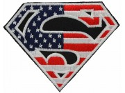 SUPERMAN LOGO CREST EMBROIDERED PATCH #08