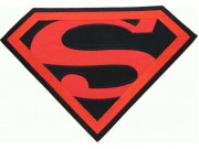 GIANT SUPERMAN CREST EMBROIDERED PATCH #P3