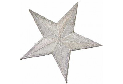 STAR IRON ON EMBROIDERED PATCH #02