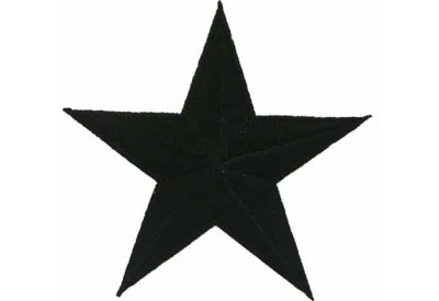 STAR IRON ON EMBROIDERED PATCH #06