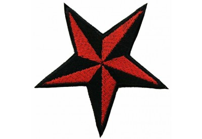 STAR NAUTICAL STAR EMBROIDERED PATCH #01