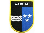 SWITZERLAND AARGAU SHIELD FLAG PATCH (SB)