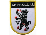 SWITZERLAND APPENZELL AR SHIELD FLAG PATCH (SB)