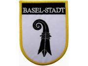 SWITZERLAND BASEL-STADT SHIELD FLAG PATCH (SB)