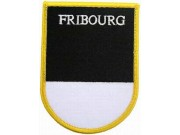 SWITZERLAND FRIBOURG SHIELD FLAG PATCH (SB)