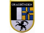 SWITZERLAND GRAUBUNDEN SHIELD FLAG PATCH (SB)