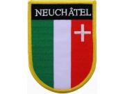 SWITZERLAND NEUCHATEL SHIELD FLAG PATCH (SB)