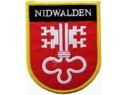 SWITZERLAND NIDWALDEN SHIELD FLAG PATCH (SB)