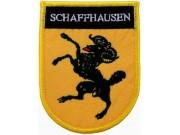 SWITZERLAND SCHAFFHAUSEN SHIELD FLAG PATCH (SB)