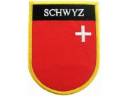 SWITZERLAND SCHWYZ SHIELD FLAG PATCH (SB)