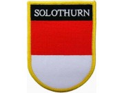 SWITZERLAND SOLOTHURN SHIELD FLAG PATCH (SB)