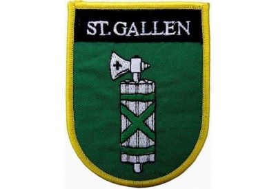 SWITZERLAND ST.GALLEN SHIELD FLAG PATCH (SB)