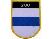 SWITZERLAND ZUG SHIELD FLAG PATCH (SB)