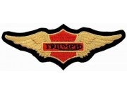Triumph Biker Wings Iron On Embroidered Patch #10