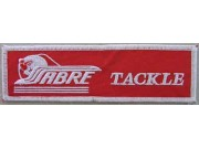 SABRE TACKLE FISHING IRON ON EMBROIDERED PATCH #01