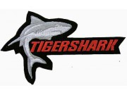 TIGER SHARK FISHING IRON ON EMBROIDERED PATCH